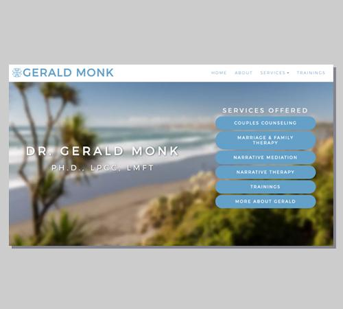 San Diego Web Design Gerald Monk - Therapist