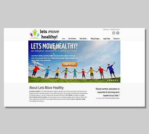 San Diego Web Design Let's Move Healthy