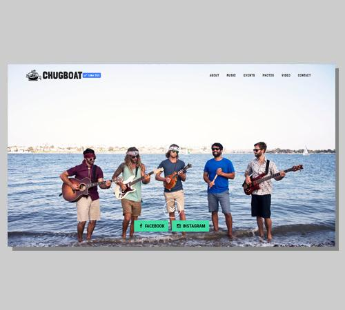 San Diego Web Design Chugboat -  Band