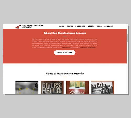 San Diego Web Design Red Brontosaurus Records