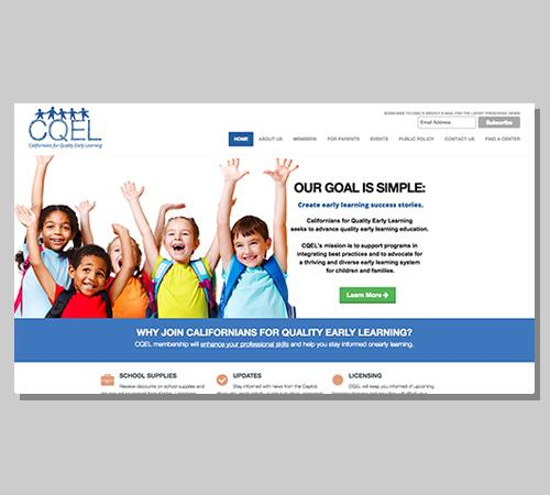 San Diego Web Design CA Quality Early Learning