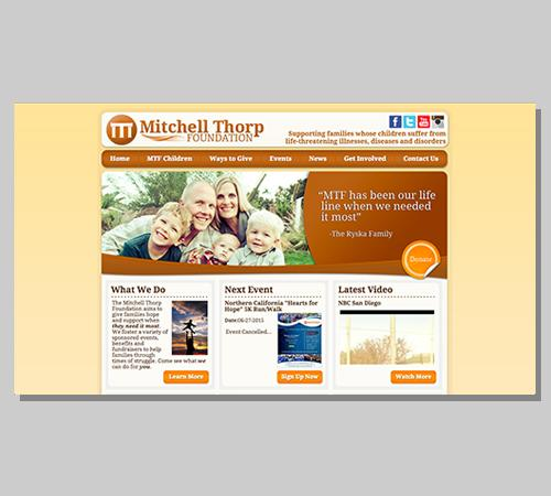 San Diego Web Design Mitchell Thorp Foundation