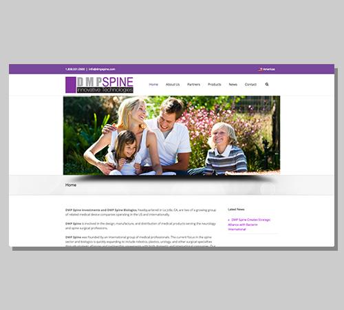 San Diego Web Design DMP Spine Inc